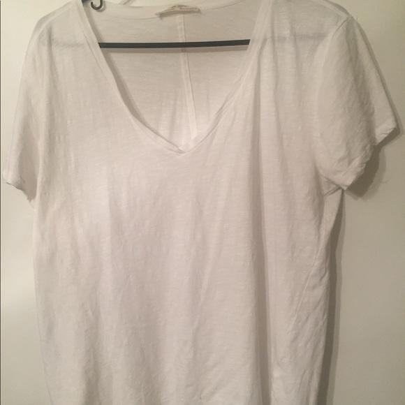 511ade8165 Zara Women's XL Organic cotton White T-shirt. M_5a9176b6c9fcdfc1ee4e38c0